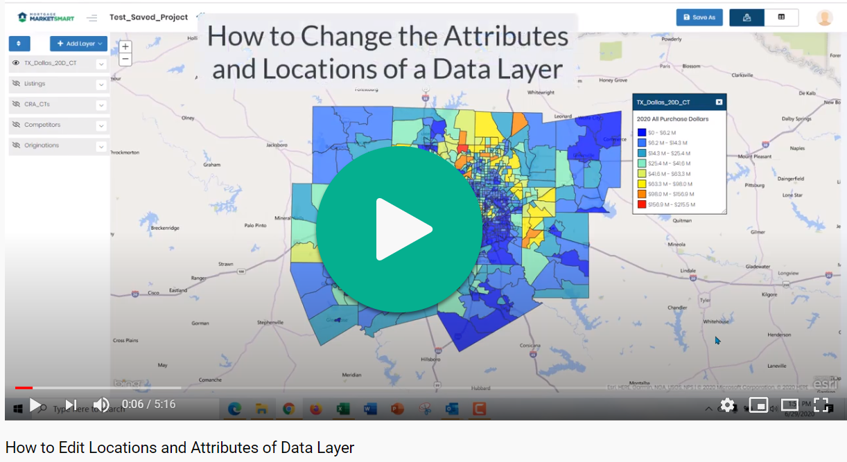 How to Change Attributes and Locations of a Data Layer