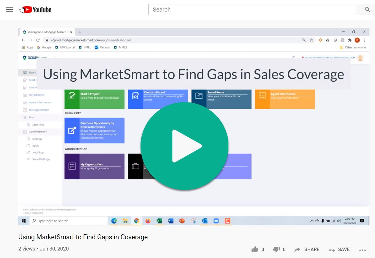 Use MarketSmart to find Gaps in Coverage